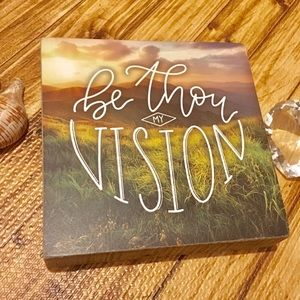 "THREE GIRLS & A WISH WOOD BOX ""BE THOU MY VISION"""